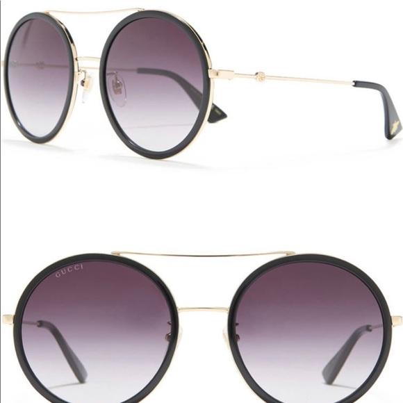 Brand new Gucci 56mm round sunglasses